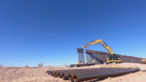Timelapse-Of-Construction-Progress-Of-the-Yuma-2-Border-Barrier-Near-Yuma-Arizona