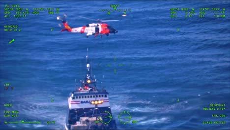 Coast-Guard-Airstation-Kodiak-Mh60-Jayhawk-Helicopter-Crew-Helps-Medevac-An-Injured-Fisherman