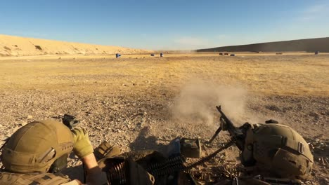 Us-Army-Infantrymen-And-Norwegian-Soldiers-Conduct-A-Joint-Live-Fire-Exercise-At-Al-Asad-Air-Base-In-Iraq-1