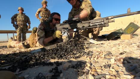 Us-Army-Infantrymen-And-Norwegian-Soldiers-Conduct-A-Joint-Live-Fire-Exercise-At-Al-Asad-Air-Base-In-Iraq-2