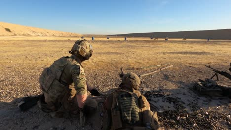 Us-Army-Infantrymen-And-Norwegian-Soldiers-Conduct-A-Joint-Live-Fire-Exercise-At-Al-Asad-Air-Base-In-Iraq-3