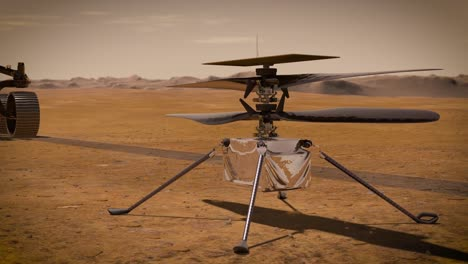 Nasa-Cgi-Of-the-Mars-Helicopter-Ingenuity-And-Rover-Perserverance-On-the-Surface-Of-the-Red-Planet