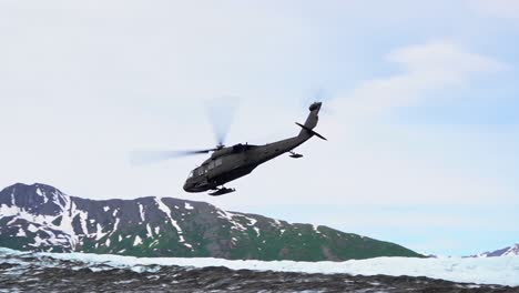 National-Guard-And-Military-Recover-Debris-And-Human-Remains-From-A-1952-Crash-Site-In-the-Chugach-Mountains-On-A-Glacier