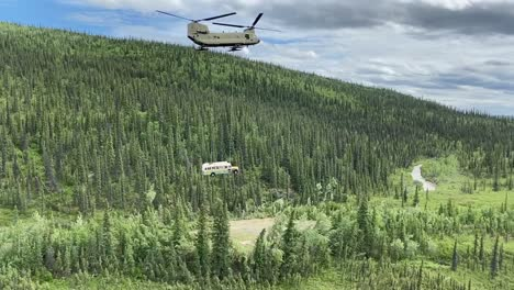 Alaska-Army-National-Guard-Ch47-Chinook-Helicopter-Air-Lifts-Into-the-Wild-Bus-142-From-Stampede-Rd-Healy-Ak