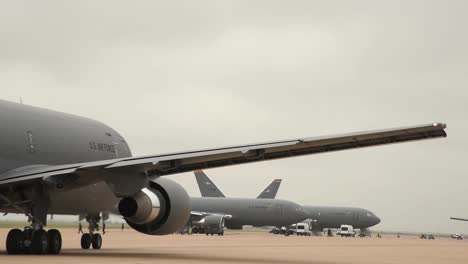 Us-Airforce-Kc46A-Pegasus-Aircraft-During-A-Large-Formation-Exercise-At-Altus-Air-Force-Base-Oklahoma