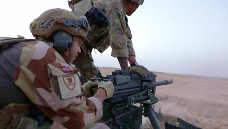 Coalition-Members-Conduct-A-Mark-19-40Mm-Grenade-Machine-Gun-Live-Fire-Exercise-At-El-Asad-Air-Base-Iraq