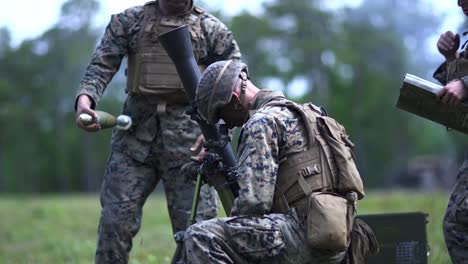 Us-Marines-Fire-Mortar-Rounds-During-Battalion-Field-Exercise-To-Sharpen-Artillery-And-Expeditionary-Skills-Camp-Lejeune-Nc-2