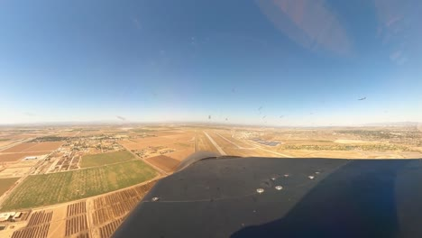 Aerial-From-A-Us-Air-Force-Fighter-Plane-During-A-Formation-Flyover-Salute-To-the-Covid19-Responders-Phoenix-Az