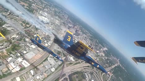 Aerial-From-the-Cockpit-Of-A-Navy-Blue-Angel-Flying-In-Formation-Honoring-Covid-19-Responders-Atlanta-Ga-1