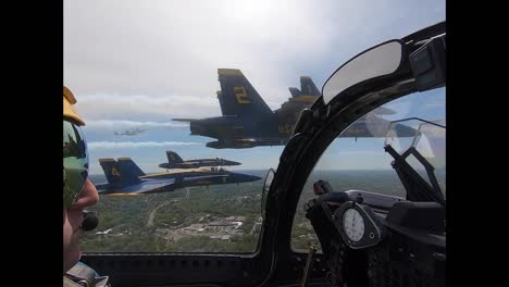 Aerial-From-the-Cockpit-Of-A-Navy-Blue-Angel-Flying-In-Formation-Honoring-Covid-19-Responders-Washington-Dc-1