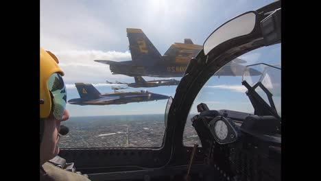 Aerial-From-the-Cockpit-Of-A-Navy-Blue-Angel-Flying-In-Formation-Honoring-Covid-19-Responders-Washington-Dc-2