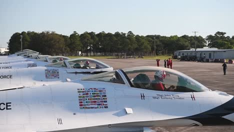 Us-Air-Force-thunderbirds-Prepare-To-Take-Off-During-America-Strong-A-Salute-To-Essential-Covid19-Workers-1