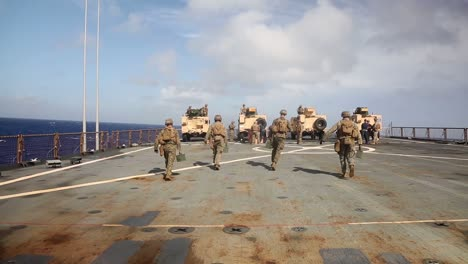 Us-Marine-Joint-Luz-Tactical-Vehicle-Mounted-Machine-Gun-Range-Training-Exercise-While-Aboard-A-Ship