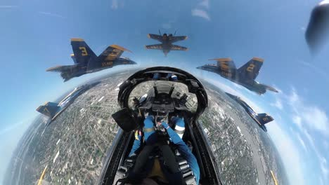 Aerial-From-the-Cockpit-Of-A-Navy-Blue-Angel-Flying-In-Formation-Honoring-Covid-19-Responders-New-Orleans-La-1