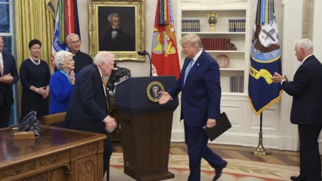 United-State-President-Donald-Trump-Presents-the-Freedom-Medal-To-Former-Attorney-General-Ed-Meese