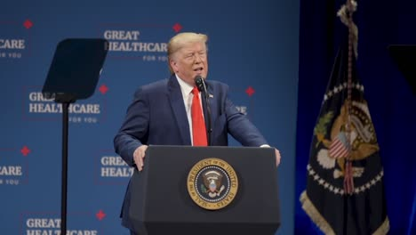President-Donald-Trump-Promotes-the-Signature-Of-An-Executive-Order-Protecting-Medicare