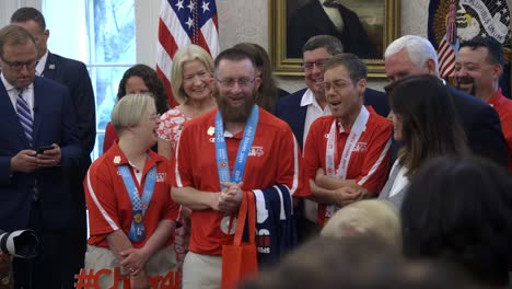 Special-Olympic-Athletes-Who-Participated-In-the-Abu-Dhabi-World-Games-Meet-Us-President-Donald-Trump-In-the-White-House
