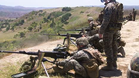 Us-Marines-Fire-M240B-Medium-Machine-Guns-And-M2-50Caliber-Heavy-Machine-Guns-During-A-Training-Exercise-Ca