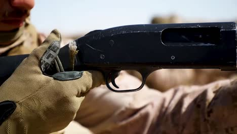 Us-Marines-With-2Nd-Battalion-5th-Marine-Regiment-Train-With-Shotguns-On-A-Combat-Marksmanship-Range-In-Kuwait-1