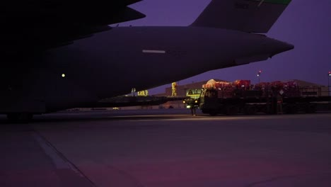 Us-Air-Force-C17A-Globemaster-Iii-Loaded-With-Relief-Supplies-Bound-For-Beruit-Lebanon-From-Al-Udeid-Air-Base-Qatar
