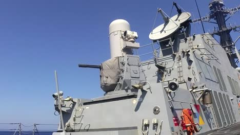 Arleigh-Burke-Class-Guided-Missile-Destroyer-Uss-Sterett-Fires-Its-Close-In-Weapons-System-(Ciws)-During-Livefire-Exercise