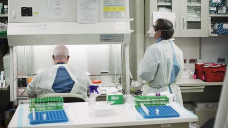 Brooke-Army-Medical-Center-Lab-Technicians-Processing-And-Analysing-Covid19-Specimens-At-Fort-Sam-Houson-Texas-1