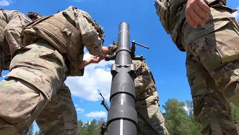 Us-Army-Paratroopers-Assigned-To-173Rd-Airborne-Brigade-Conduct-Mortar-Training-Field-Exercises-Grafenwoehr-Germany