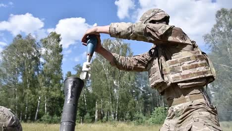 Us-Army-Paratroopers-Assigned-To-173Rd-Airborne-Brigade-Conduct-Mortar-Training-Field-Exercises-Grafenwoehr-Germany-2
