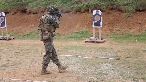 Us-Marines-In-Military-Camouflage-Fire-Weapons-During-Combat-Marksmanship-Training-Exercise-Camp-Schwab-Japan-1
