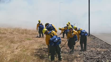 Oregon-National-Guardsmen-Complete-Wildland-Brush-Fire-Firefighter-Training-To-Earn-their-ñred-Card—-Salem-Oregon-3