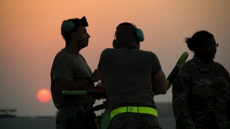 Us-Air-Force-379th-Expeditionary-Aircraft-Maintenance-Squadron-Maintain-Airplanes-At-Al-Udeid-Air-Base-In-Qatar