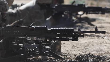 Slow-Motion-Us-Army-Soldiers-Infantry-Leadership-Course-Using-M240B-Machine-Guns-At-Mcguiredixlakehurst-Nj-2