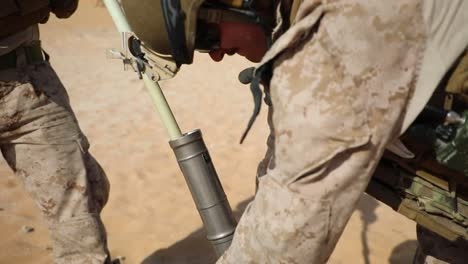 2Nd-Battalion-Us-Marines-And-United-Arab-Emirates-Soldiers-Fire-60Mm-Mortars-During-Falcon-Sentry-Exercise-1