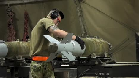 Us-Air-Force-Airmen-Of-332-Aew-Ammo-Shop-Assemble-Weapons-And-Munitions-For-A-Bombing-Mission-6