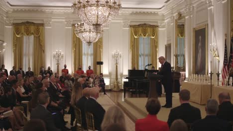 Compilation-Of-Scenes-At-A-White-House-Service-Hosted-By-President-Trump-Honoring-Gold-Star-Families-And-Soldiers