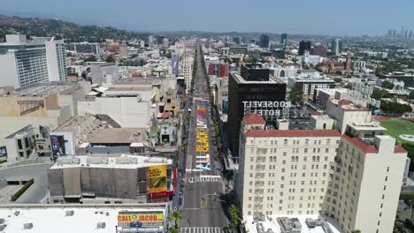 High-Aerial-Over-The-All-Black-Lives-Matter-Blm-Mural-On-Street-Top-Down-Hollywood-Blvd-Los-Angeles-California-3