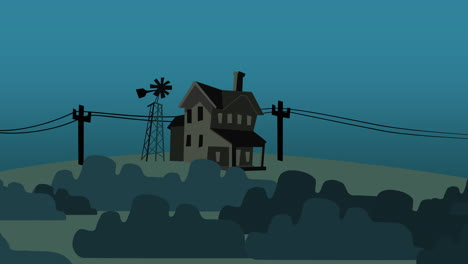 Cartoon-animation-background-with-house-on-farm-abstract-backdrop