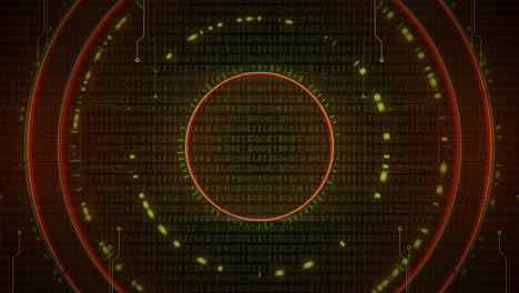 Cyberpunk-animation-background-with-computer-matrix-numbers-and-grid-1