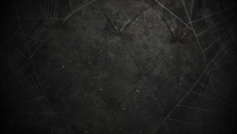 Mystischer-Horrorhintergrund-Mit-Dunklem-Spinnennetz-und-Abstraktem-Hintergrund-Der-Bewegungskamera