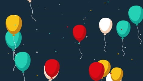 Animated-closeup-holiday-background-with-balloons