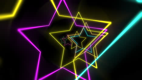 Motion-colorful-laser-neon-stars-abstract-background