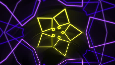 Motion-abstract-neon-geometric-shape-in-space-laser-club-background