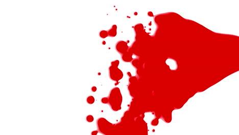 Animación-Movimiento-Abstracto-Rojo-Líquido-Manchas-Fondo-Blanco-Splash