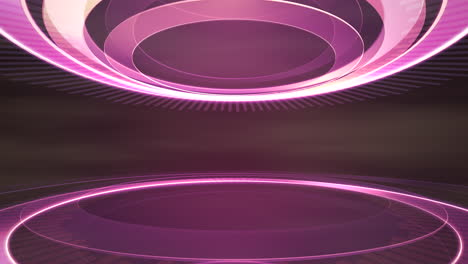 Intro-news-graphic-animation-in-studio-with-circular-shapes-abstract-background