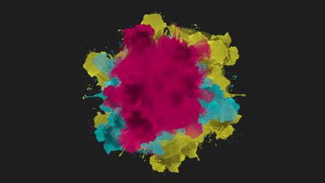 Animation-abstract-colourful-splashes-motion-disco-background