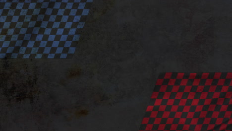Motion-formula-red-and-blue-flags-retro-sport-background