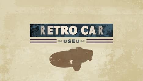 Motion-retro-car-and-text-Museum-retro-Car-sport-background