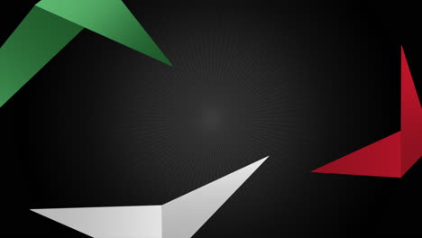 Motion-abstract-geometric-green-and-red-shape-retro-sport-background