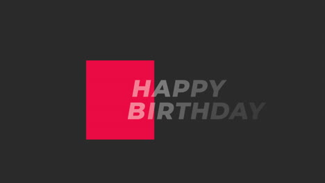 Animation-text-Happy-Birthday-on-black-fashion-and-minimalism-background-with-red-shape