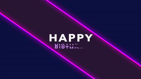 Animation-text-Happy-Birthday-and-motion-abstract-purple-neon-lines-disco-background